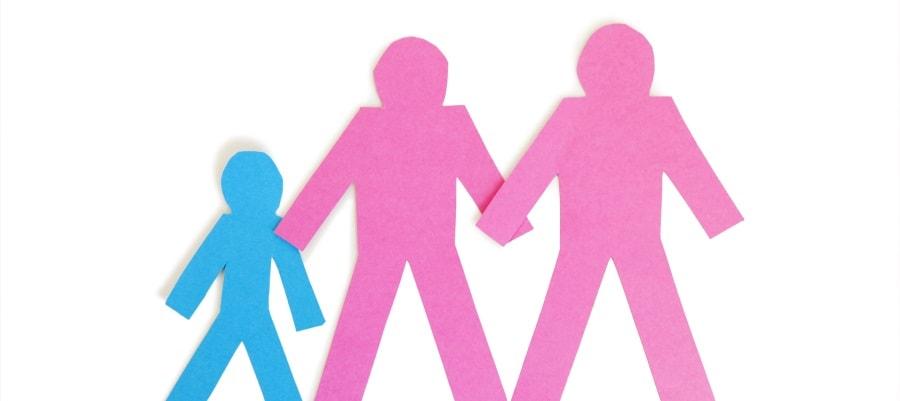 בני זוג חד מיניים וילדם המשותף