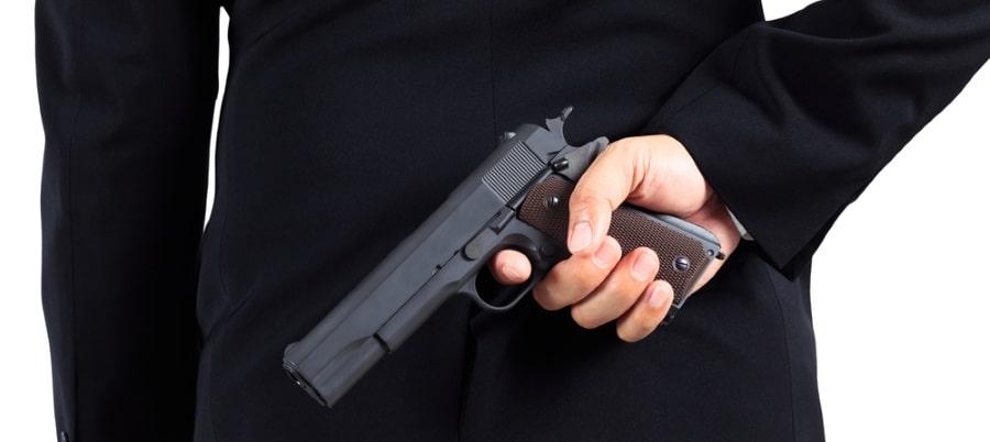 שימוש באקדח