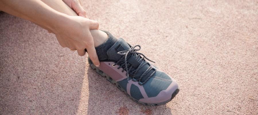 הרגל כואבת לאחר הנפילה