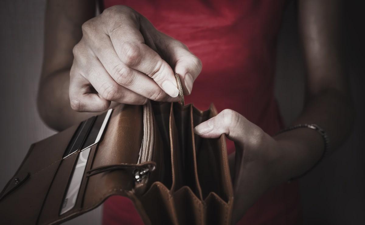 אין כמעט כסף בארנק